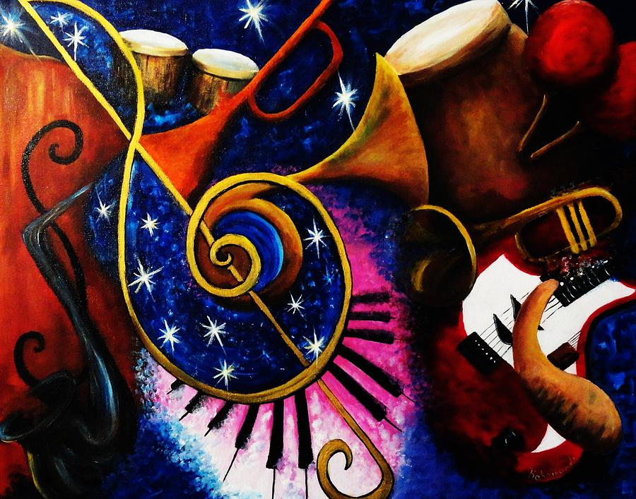 Music Painting - Imperfect Fusion by Migdalia Bahamundi