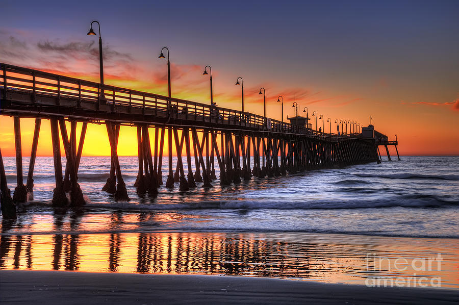 Imperial Beach Photograph - Imperial Beach Pier by Eddie Yerkish