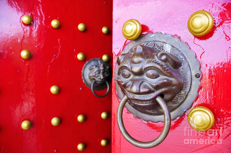 Door Knocker Photograph - Imperial Lion Door Knocker by William Voon