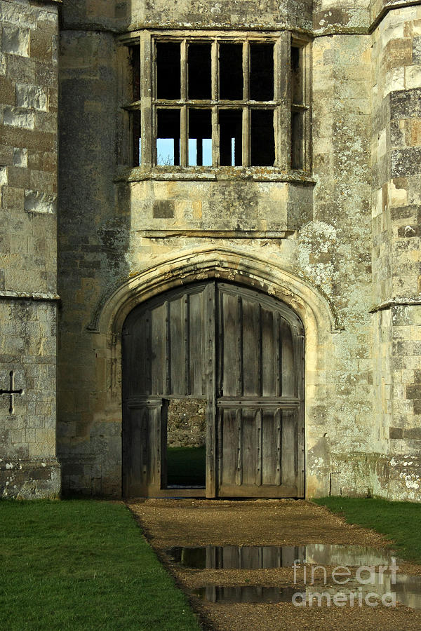 Titchfield Abbey Photograph - Imposing Front Door Of Titchfield Abbey by Terri Waters