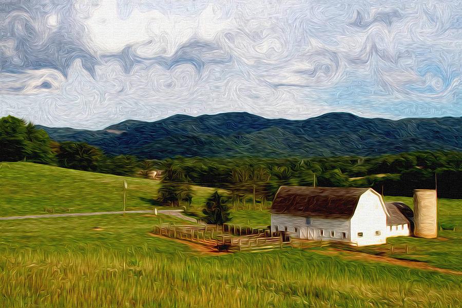 Farm Painting - Impressionist Farming by John Haldane