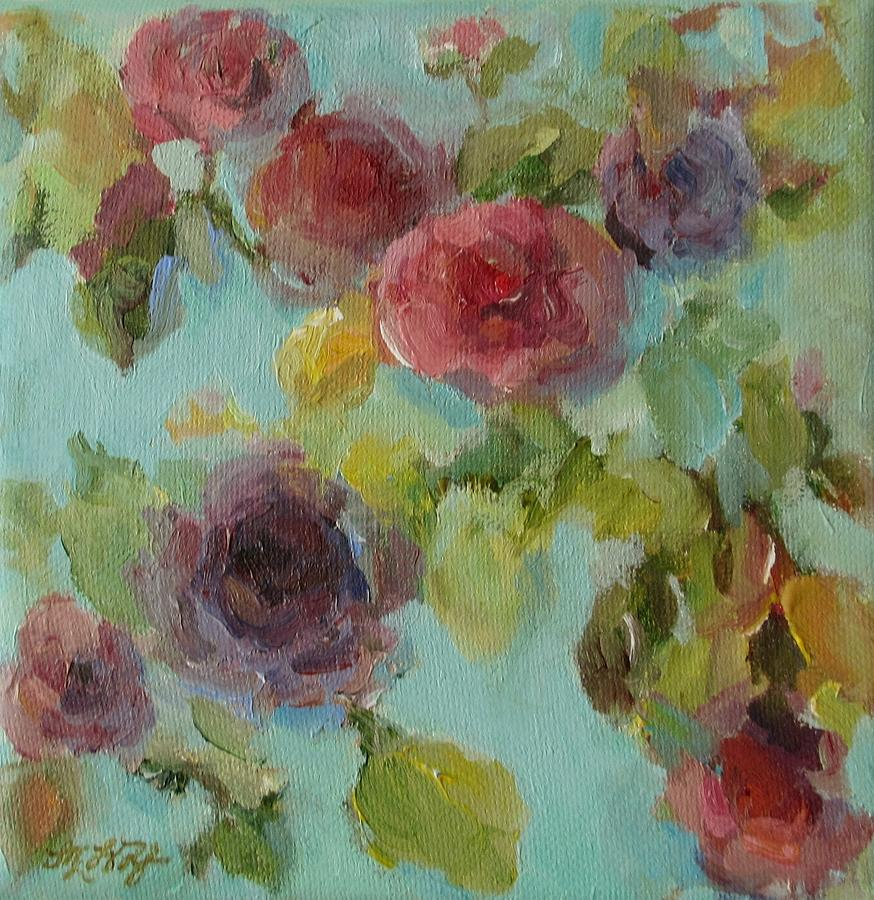 impressionist floral painting by mary wolf