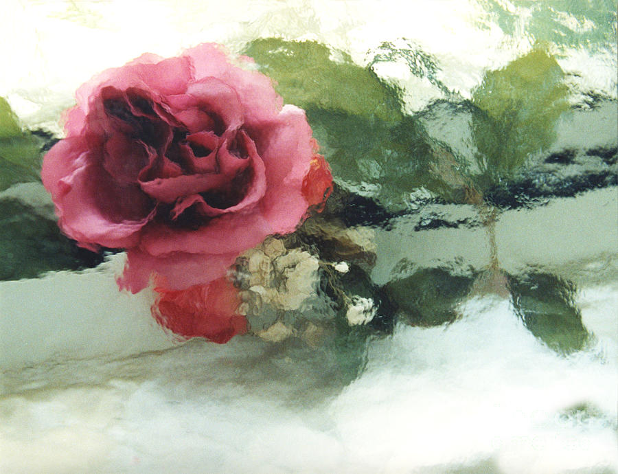 Rose Photograph - Impressionistic Watercolor Roses, Romantic Watercolor Pink Rose  by Kathy Fornal