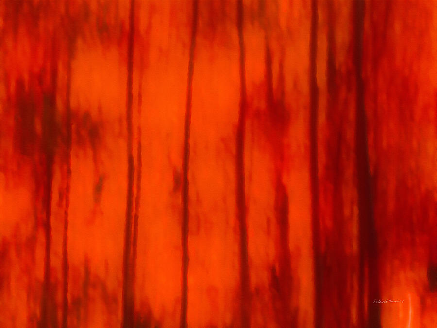 Abstract Mixed Media - Impressionistic Autumn 4 by Leland D Howard