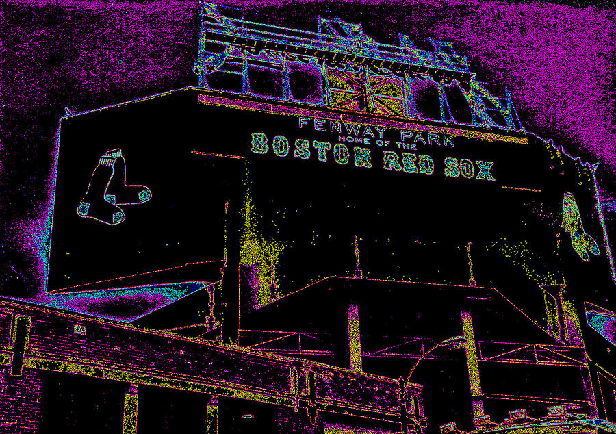 Fenway Park Photograph - Impressionistic Fenway Park by Gary Cain