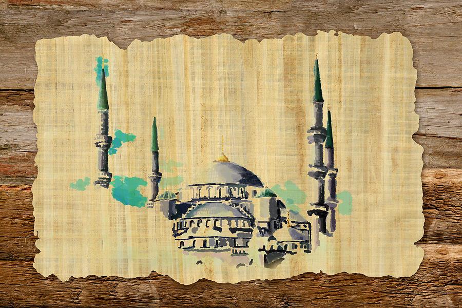 Islamic Painting - Impressionistic Masjid E Nabwi by Catf