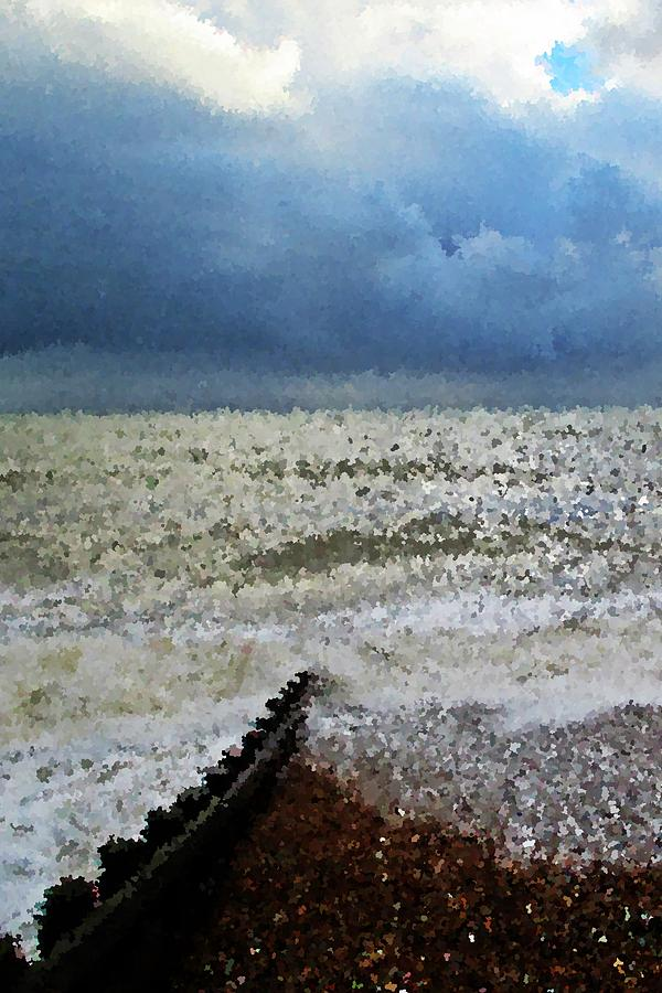 Seascapes Photograph - Impressionistic Ocean by Sharon Lisa Clarke