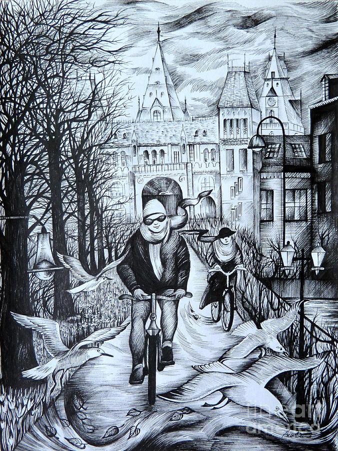 Travel Drawing - Impressions Of Amsterdam by Anna  Duyunova