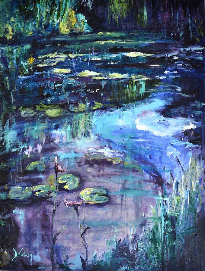 Water Lilies Painting - Impressions Of Giverny by Donna Tuten