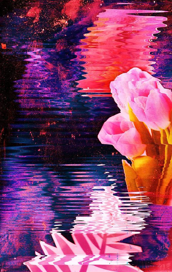Pink Mixed Media - Impromptu by Anne-Elizabeth Whiteway