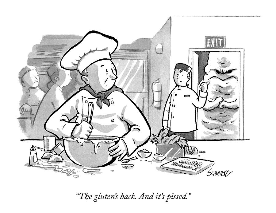In A Bakers Kitchen Drawing by Benjamin Schwartz