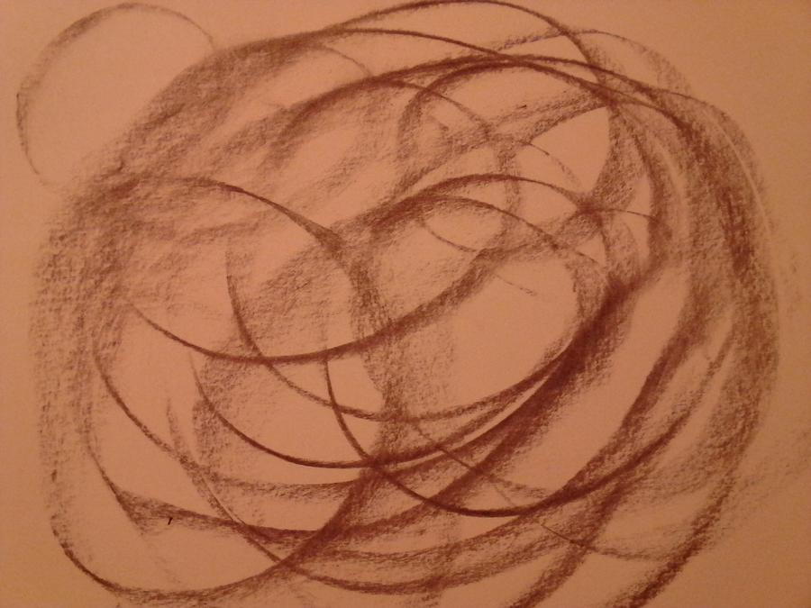 Circles Drawing - In A Different World by Erica  Darknell