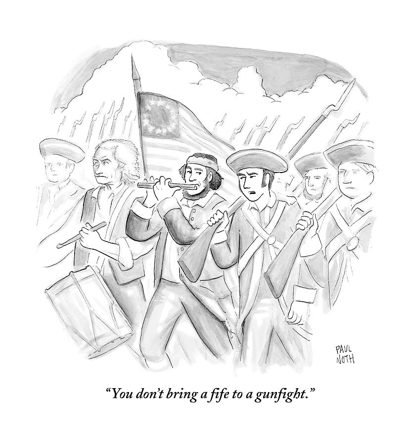 In A Military March Drawing by Paul Noth