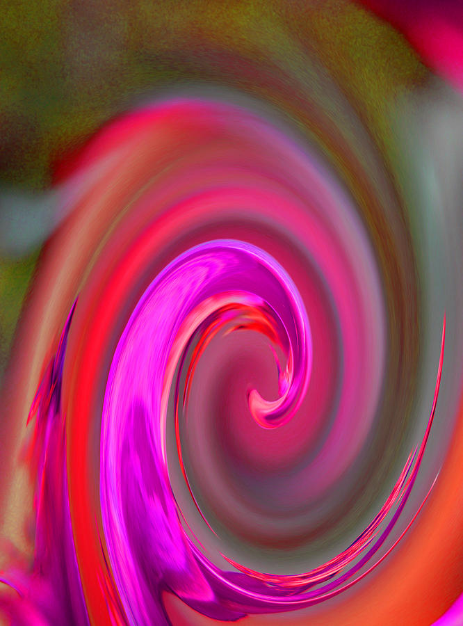 Abstract Digital Art - In A Swirl Of Love by Jean Booth