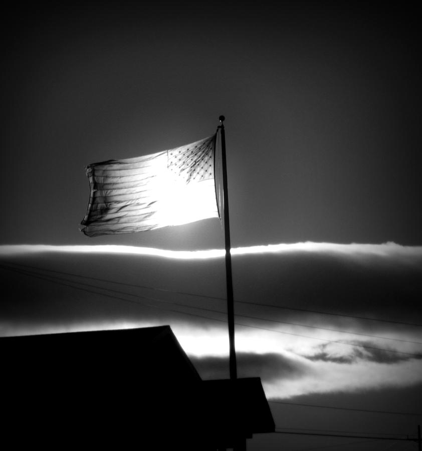 Flag Photograph - In All Her Glory by Jennifer Compton