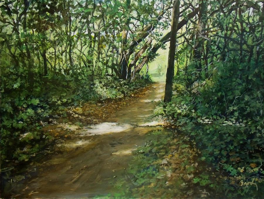 Landscape Painting - In And Out Of The Shadows by William Brody