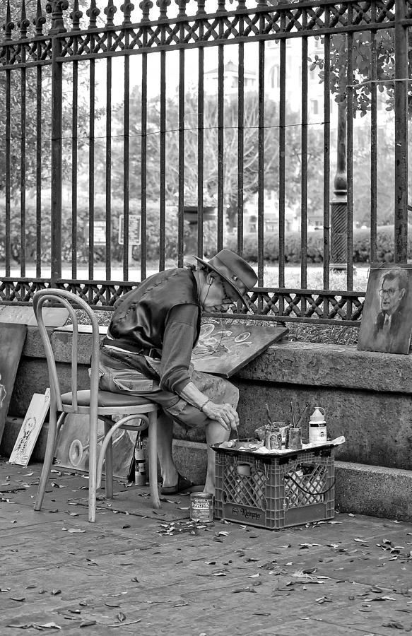 French Quarter Photograph - In Another World Monochrome by Steve Harrington