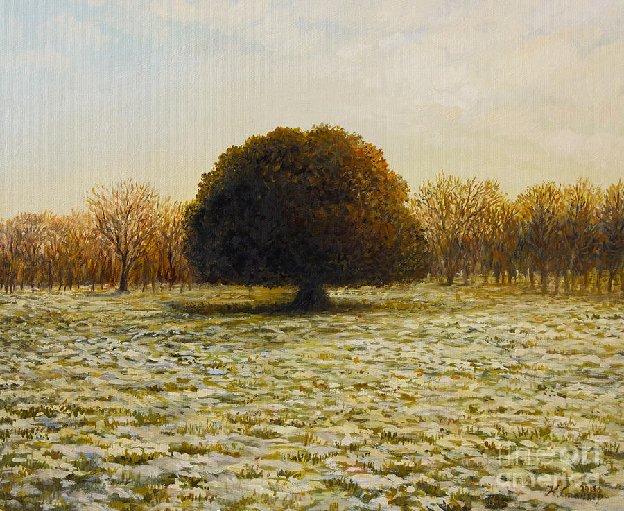 Landscape Painting - In Anticipation Of The Spring by Kiril Stanchev
