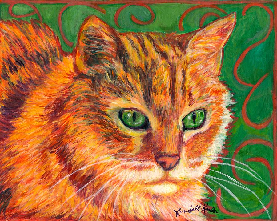 Cats Painting - In Charge by Kendall Kessler