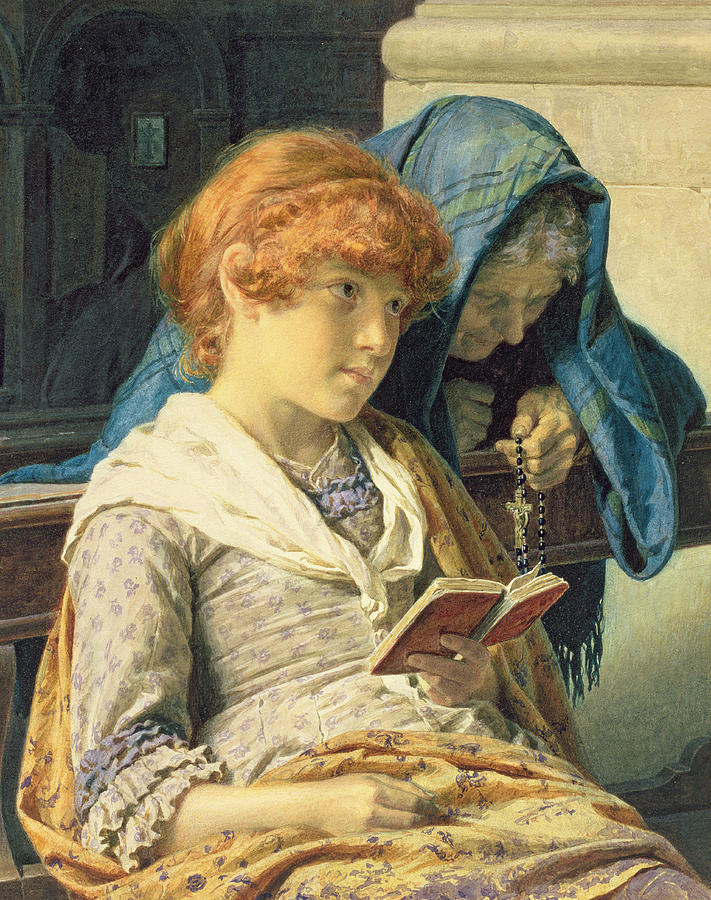 In Church Painting - In Church by Luigi da Rios