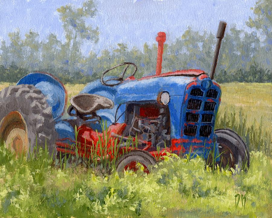 Tractor Painting - In Da Weeds by David King