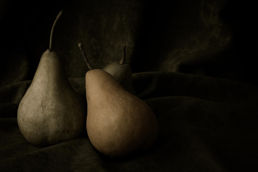 Pear Photograph - In Darkness by Amy Weiss