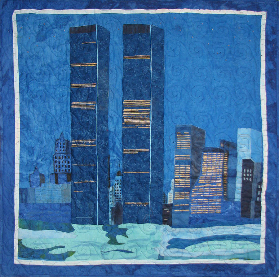Twin Towers Tapestry - Textile - In Deep Thought by Aisha Lumumba