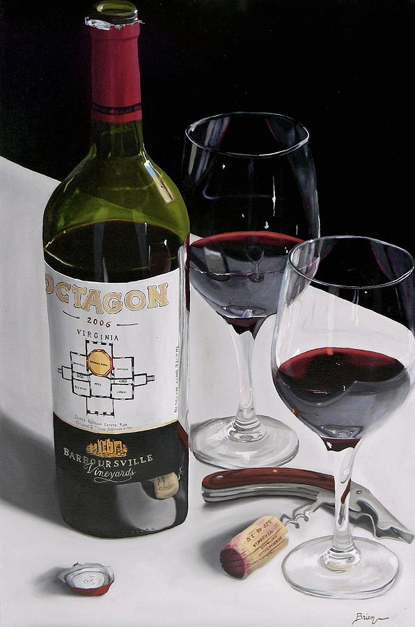 Wine Art Paintings Painting - In Due Time by Brien Cole