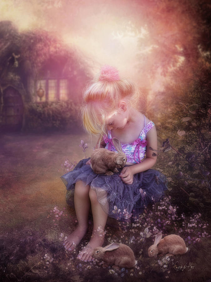Girl Photograph - In Fairy Tales by Cindy Grundsten