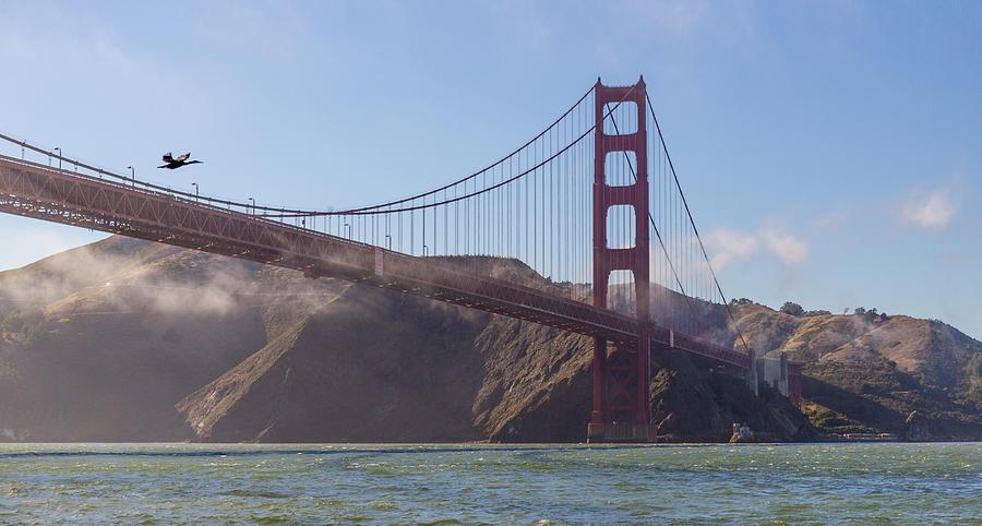 Golden Gate Bridge Photograph - In Flight Over Golden Gate by Scott Campbell
