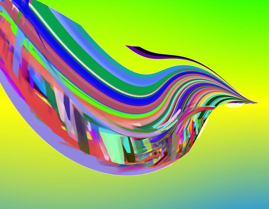 In Flight Digital Art - In Flight with SBUX by Stephen Coenen