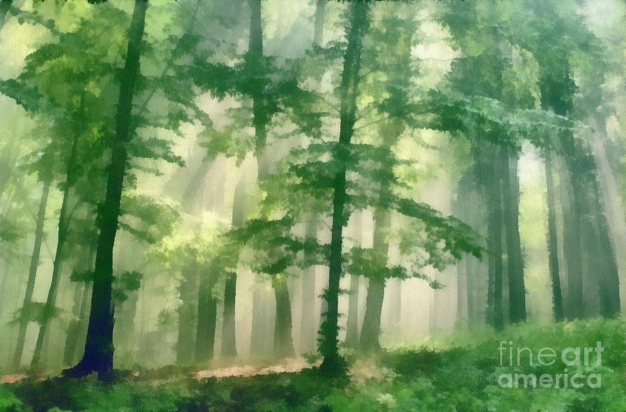Nature Painting - In Forest by Odon Czintos