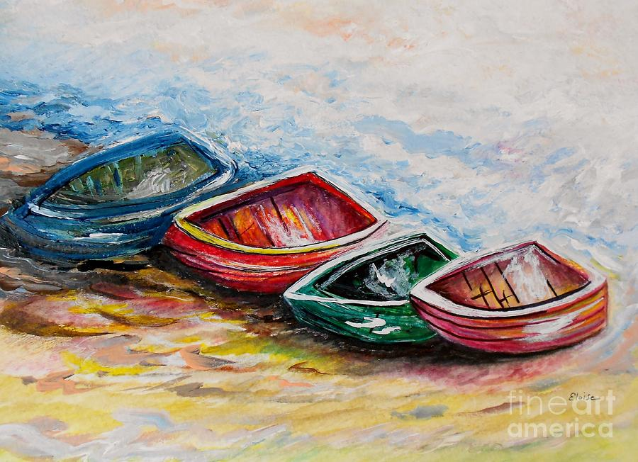 Boat Painting - In From The Sea by Eloise Schneider