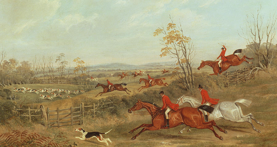 Hunt Painting - In Full Cry by James Russell Ryott