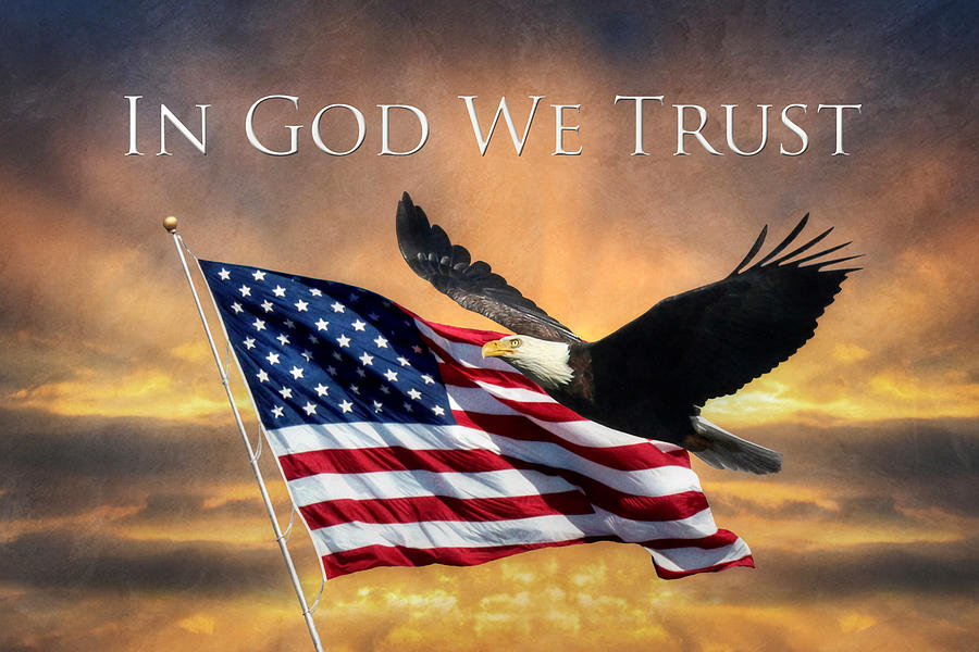 Flag Photograph - In God We Trust by Lori Deiter