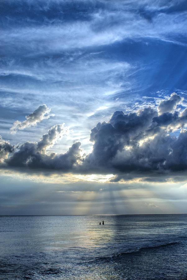 Landscape Painting - In Heavens Light - Beach Ocean Art By Sharon Cummings by Sharon Cummings