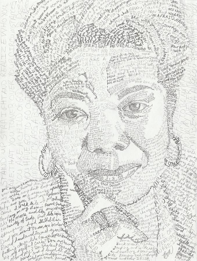 Author Painting - In Her Own Words Maya Angelou by Beverly Marshall