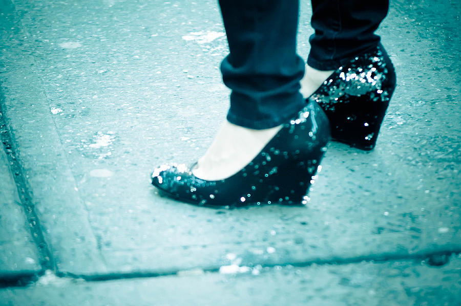Blue Photograph - In Her Shoes by Zina Zinchik