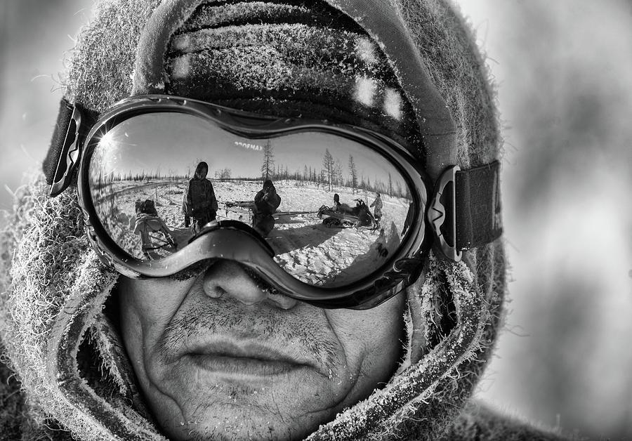 Portrait Photograph - In His Eyes by Andrey Snegirev