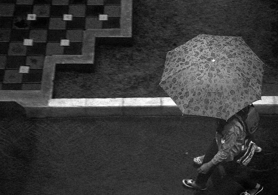 Umbrella Photograph - In Hurry by Achmad Bachtiar