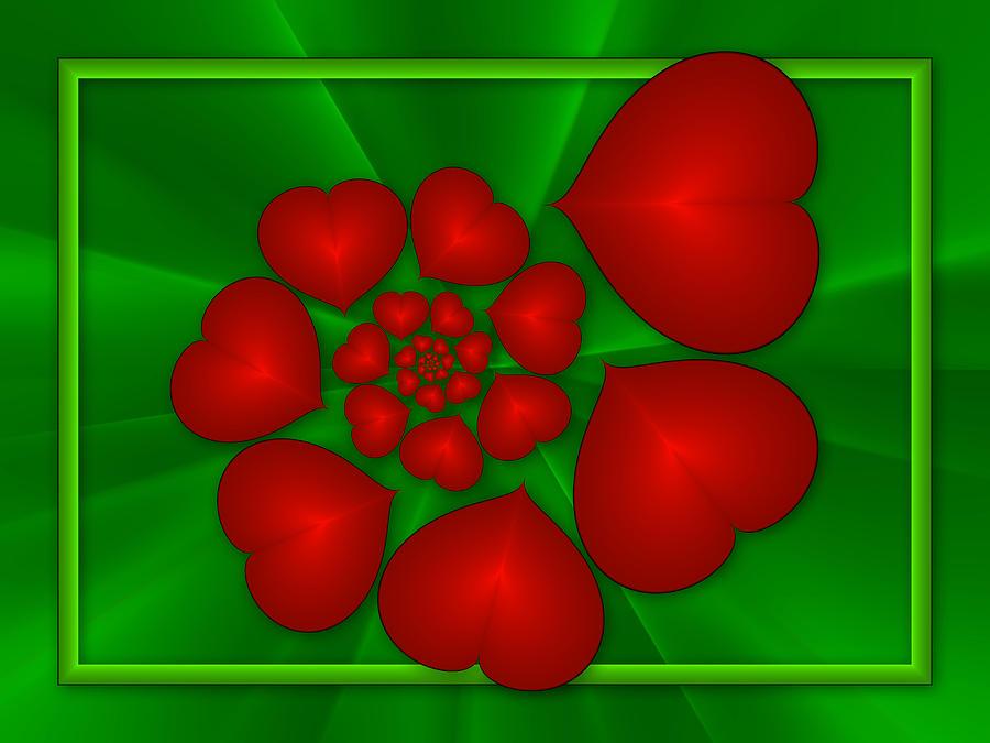 Fractal Digital Art - In Love by Gabiw Art