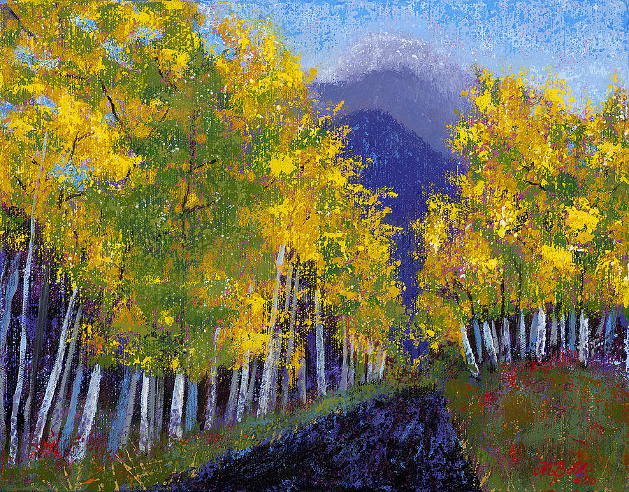 Nature Painting - In Love with Fall River Road by Margaret Bobb