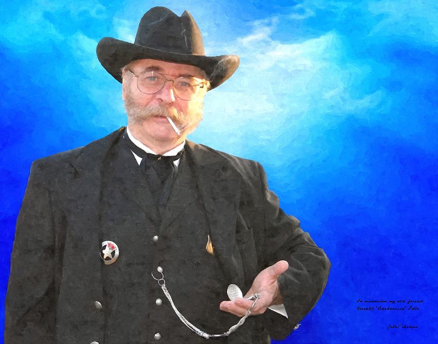 Cowboy Painting - In Memoriam Barbarossa by Janos Szijarto