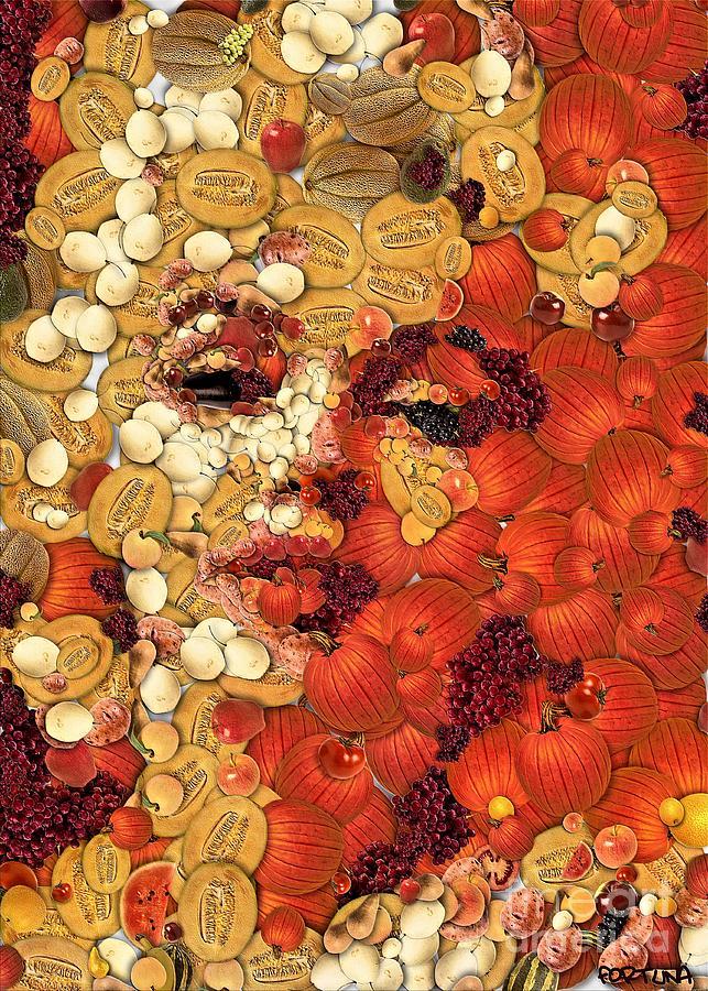 Digital Painting Digital Art - In Memory M M by Dragica  Micki Fortuna