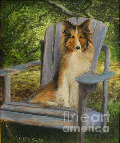 Pets Painting - In memory of Esha by Chris Neil Smith