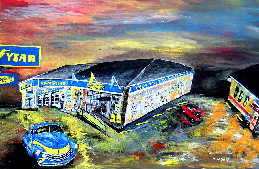 Goodyear Painting - In Motion  by Mark Moore