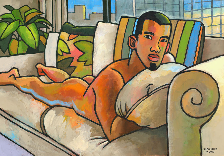 Male Nude Painting - In My Apartment by Douglas Simonson