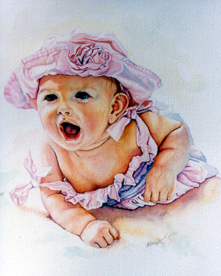Baby Painting - In My Opinion by Hanne Lore Koehler