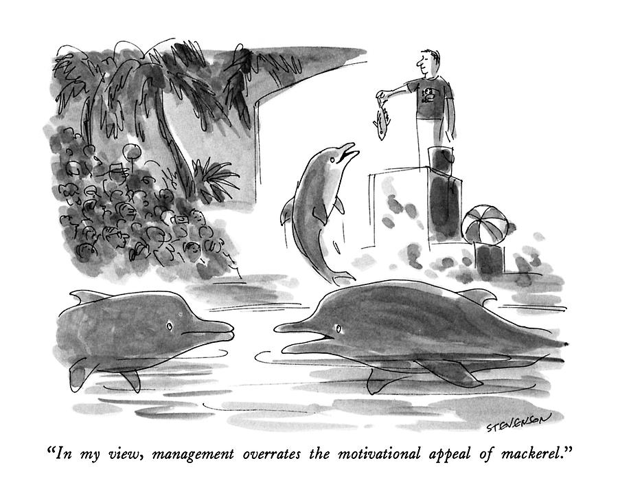 In My View, Management Overrates The Motivational Drawing by James Stevenson