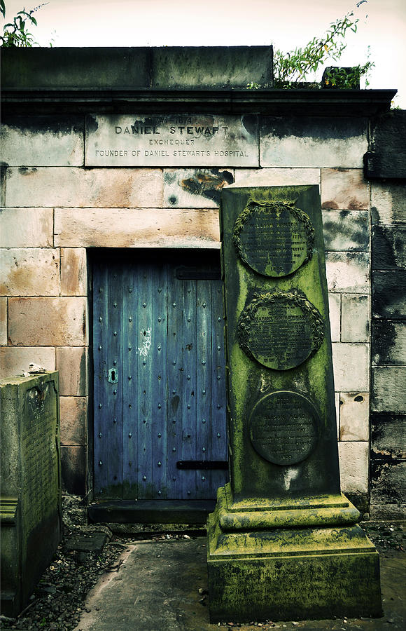 Headstone Photograph - In Old Calton Cemetery by RicardMN Photography